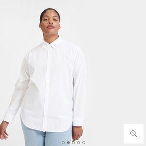 Everlane Relaxed Poplin Shirt | White